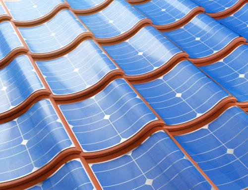 Energía limpia. Tejas solares.
