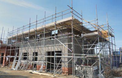 estructura de construcción de casa