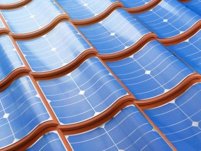ilustración de tejas solares