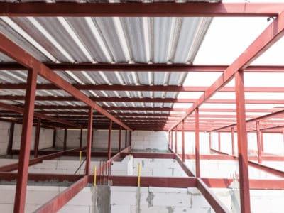 estructura metálica con lamina galvanizada