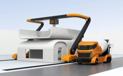 impresión 3d para viviendas construcción